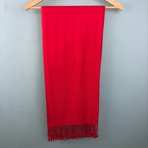 Super soft long red scarf